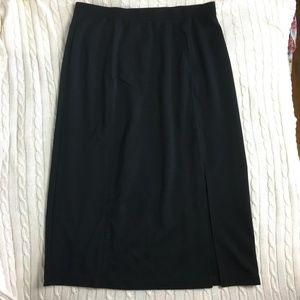 Avenue Comfy Long Black Skirt Size 18/20